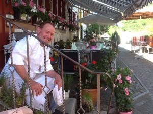 Köbi in der Gartenwirtschaft Juli 2013